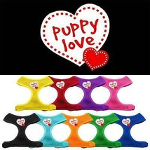 PUPPY LOVE Mesh Pet Harness * Soft Adjustable Dog Cat Valentines Day Heart - $15.83+