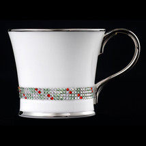 Prouna Bone Chain Coffee Mug Decorated With Swarovski Crystals - $182.33