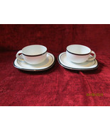 ROSENTHAL CONCEPT 5 ANTHRACITE black set of 2 cups and saucer - $19.75