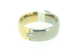 Titanium ring with cz stone - $25.00