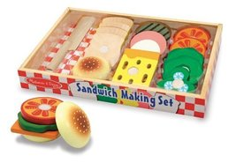 Melissa & Doug Wooden Sandwich-Making Set - $19.55