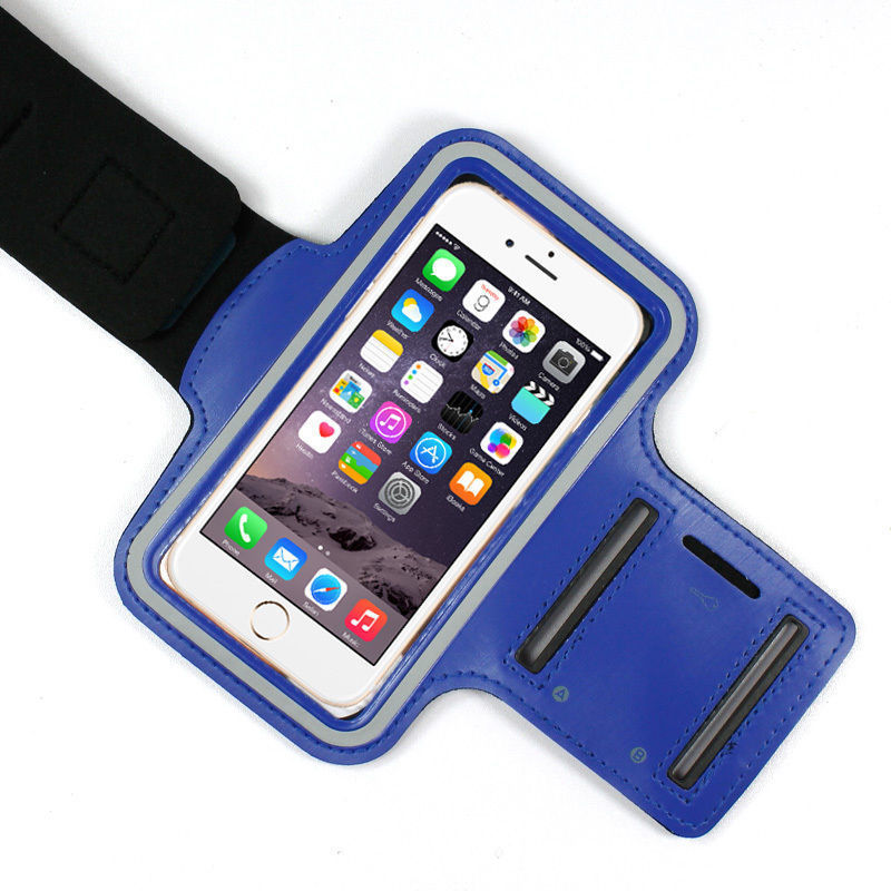 Sports Running Workout Gym Armband Arm Band Case Neoprene iPhone 6 6S PLUS Blue
