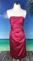 Davids Bridal Womens Dress Size 2 Pink Formal Short Strapless Prom Weddi... - $22.04