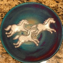"Horse Plate, Raku Pottery by Jeremy Diller  8"" diameter NEW - $41.58"
