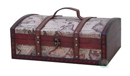 Old World Map Treasure Chest - $35.10