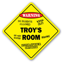 TROY'S ROOM SIGN kids bedroom decor door childr... - $8.89