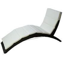 Folding Chaise Lounge w Cushion Garden Pool Furniture Patio Deck Chair L... - $227.69