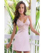 Coquette Satin & Powernet Triangle Underwire Cup Chemise Dust Rose Lingerie - $37.99+