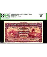 "TRINIDAD & TOBAGO P7b ""SAILING SHIPS ON HARBOUR"" 1939 $5 ""PORT OF SPAIN""... - $1,795.00"