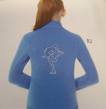 Mondor Model 24482 Polartec Rhinestone GIrls Skating Jacket Vivid Blue Sz 12-14 - $79.48