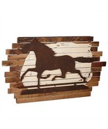 Gorgeous Galloping Horse Large Wall Art,Sculpture,Wood&Iron,52'' x 30''H. - $688.05