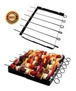Barbecue Skewer Shish Kabob,BBQ Meat Veg Steel ... - £22.28 GBP
