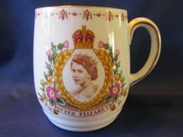 Tuscan English Bone China Queen Elizabeth II Coronation Mug - June 2, 1953 - £13.33 GBP