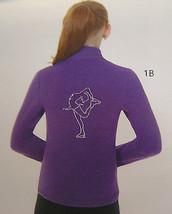 Mondor Model 24482 Polartec Rhinestone Girls Skating Jacket Purple Blue Sz 10-12 - $79.48
