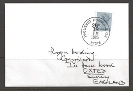 1985 Paquebot Cover, British stamp used in Portland, Oregon - $5.00