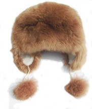 Alpakaandmore Womens Alpaca Fur Hat Winter Ski Brown Hat Earflap (Medium) - $69.30