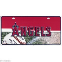 ANAHEIM ANGELS LOGO MLB BASEBALL METAL LICENSE PLATE MADE IN USA - $29.69