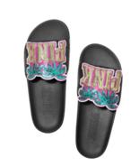 Victoria's Secret PINK Sequin Palm Tree Sandals Slides - $31.50