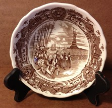 Royal Staffordshire J & G Meakin Ironstone American Legend Cereal Bowl Brown 6.5