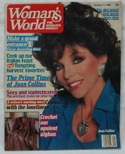 Joan Collins October 11 1988 Woman's World Magazine