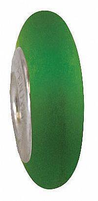 "Fenton Art Glass Bead-tween Spacer Bead Made USA ''Velvet Kelly Green"" RETIRED"