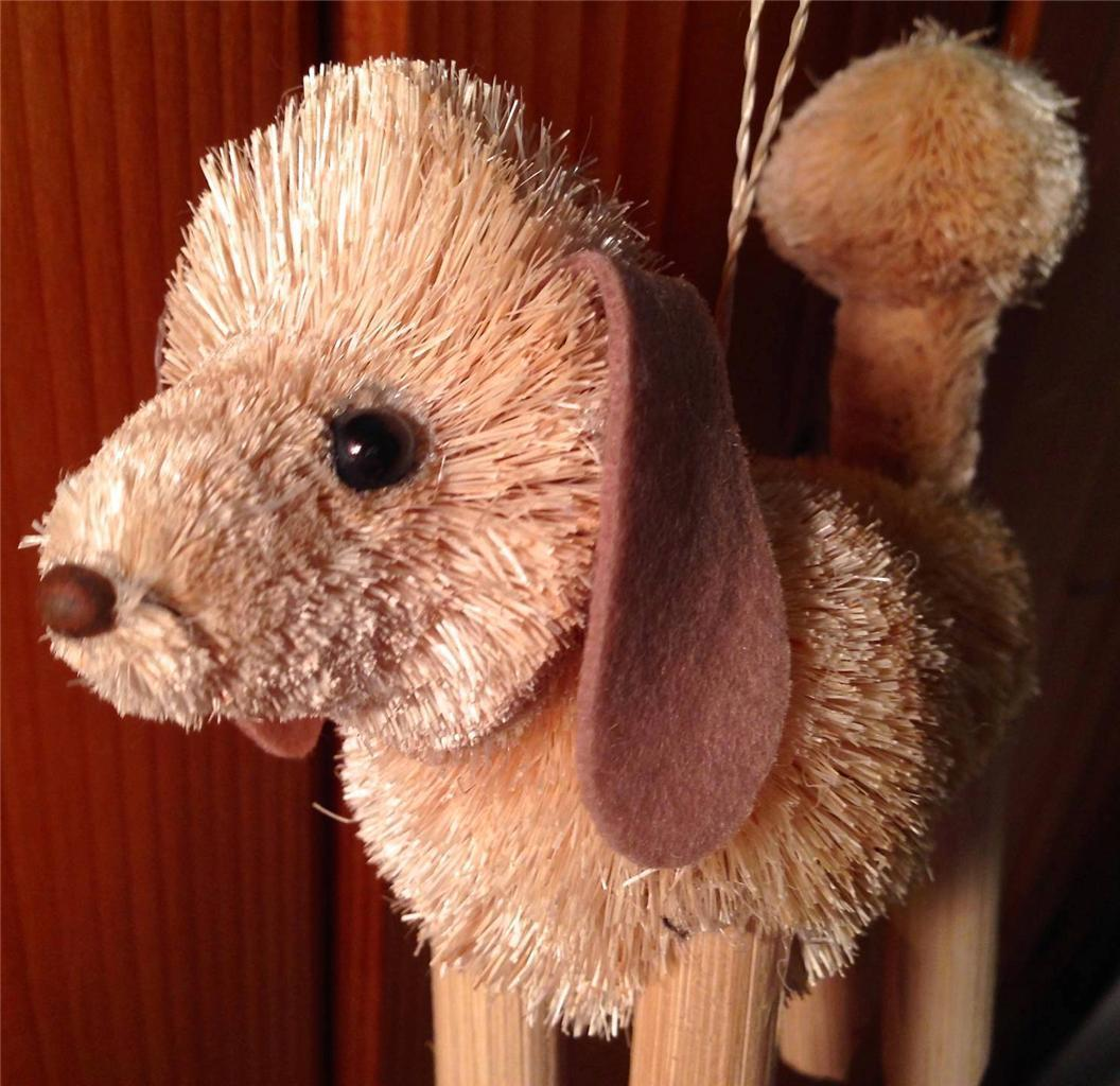 BrushArt Poodle Ornament: Handmade, Eco-friendly, Vegetable Fiber Animal