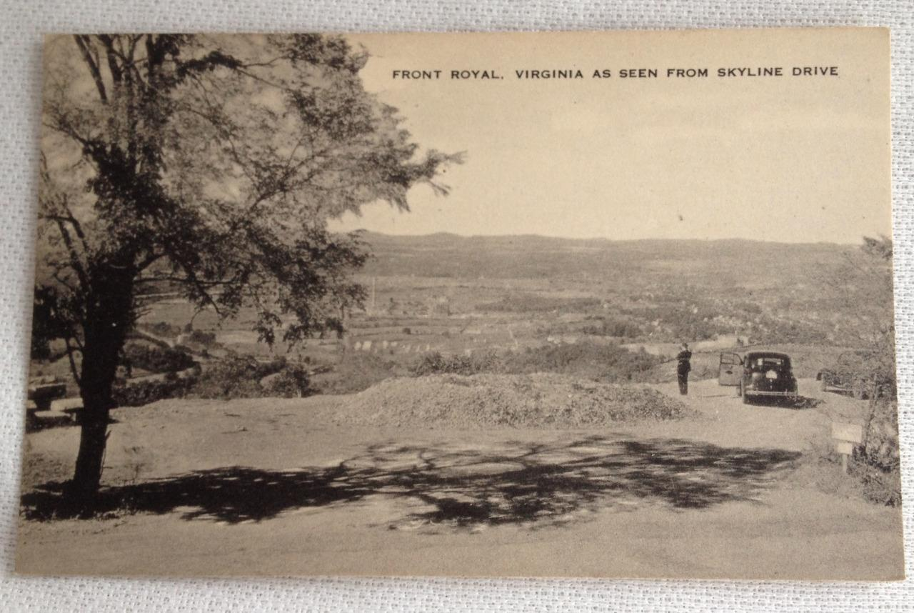Front Royal Virginia Skyline Drive RPPC Post Card B / W Old Card Unused