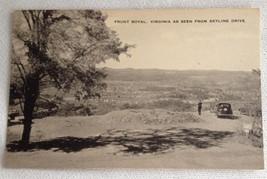 Front Royal Virginia Skyline Drive RPPC Post Card B / W Old Card Unused
