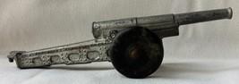 "1940's Toy Soldier Cannon Rubber Wheels Cast Lead 7 3/4"" Long"