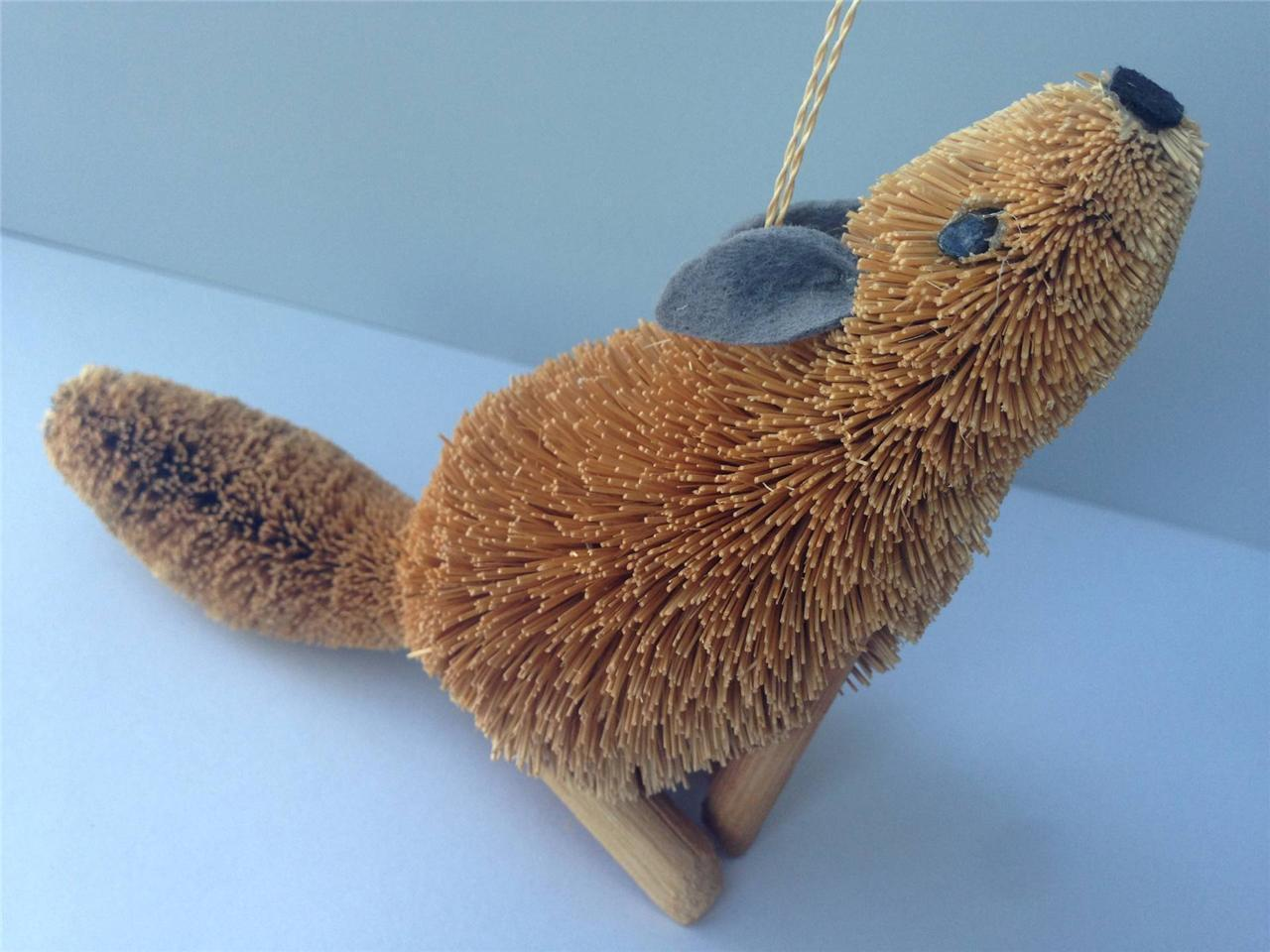 BrushArt™ Coyote Ornament: Handmade, Eco-friendly, Vegetable Fiber Animal