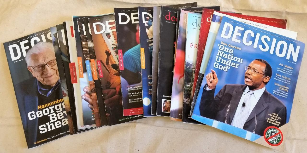 19 Back Issues Decision Magazine Publication Billy Graham Evangelistic Assoc.