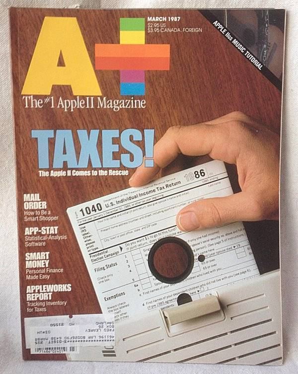 A+ Apple II Macintosh Magazine March 1987 IIGS Music Tutorial Apple II Taxes