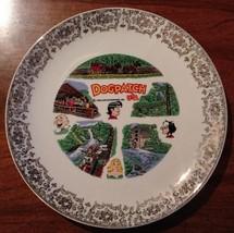 """Vintage Dogpatch USA Souvenir Plate 1968 CAPP Enterprises 9 1/4"""""""
