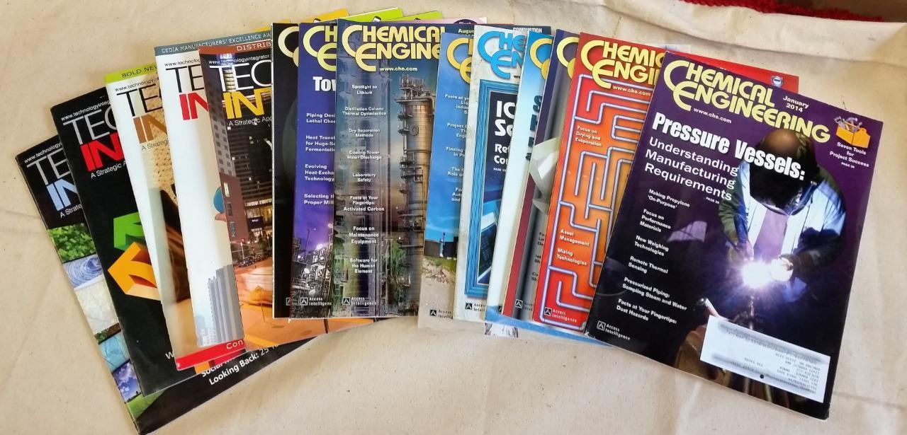 Technology Integrator & Chemical Engineering Magazines Lot of 14 Issues