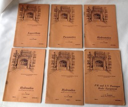 International Correspondence Schools 6 Booklets Home Study Hydrostatics Brakes +