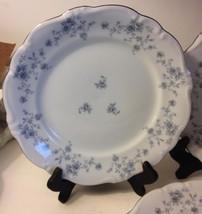 "Johann Haviland Blue Garland Bavaria Backstamp Dinner Plate 10"" Set of 4"