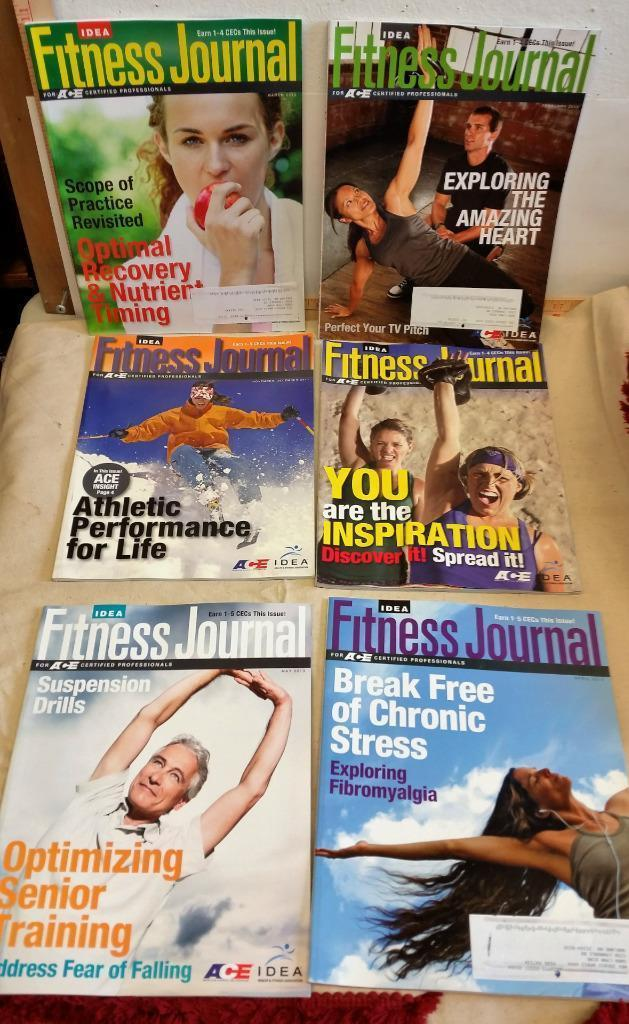 6 Issues of Idea Fitness Journal For ACE Certified Professionals 2013 Training