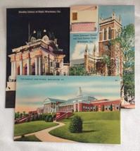 3 Winchester VA Handley Library High School Christ Church Fairfax Tomb Linen PC