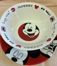 Disney Mickey Mouse Ceral Bowl & Plate set Excellent Condition Oh Boy! Plate