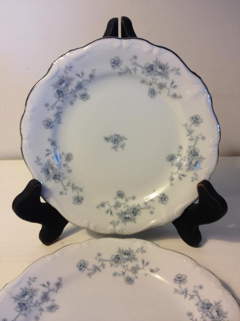 Johann Haviland Blue Garland Bavaria Backstamp Bread Butter Plate Set of 4