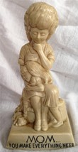 R&W Berries 1971 Sillisculpt Statue Made in USA MOM...YOU MAKE EVERYTHING NICER