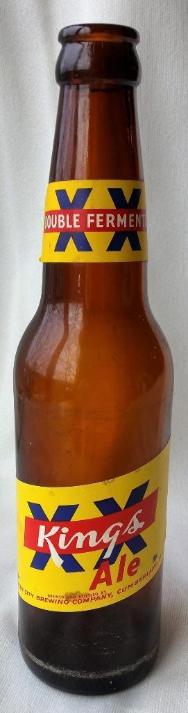Vintage XX Kings Ale Beer Bottle Cumberland Md Longneck Queen City Brewing