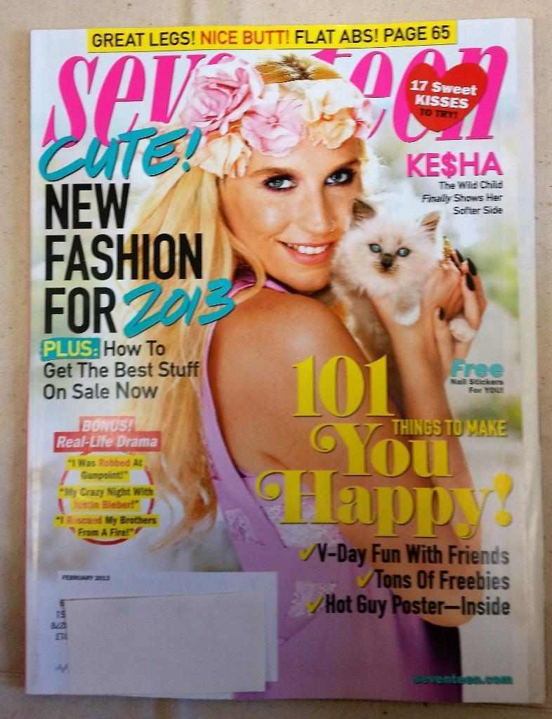 Seventeen Magazine Kesha February 2013 The Wild Child Shows Softer Side Fashion