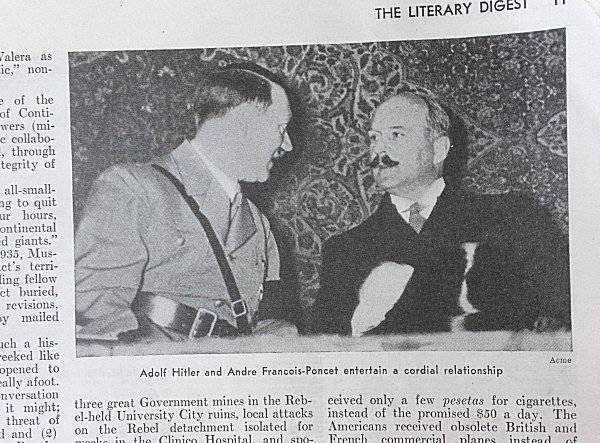 Literary Digest January 23 1937 Hitler Reassures France Pictures Article Cartoon