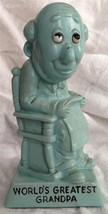 W&R Berries 1970 Sillisculpt Statue Made in USA 'WORLD'S GREATEST GRANDPA' Blue