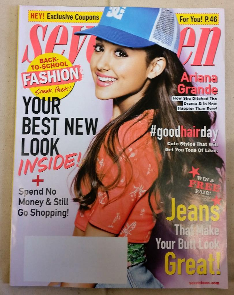 Seventeen Magazine Ariana Grande August 2013 Jeans That Make Your Butt Look Good