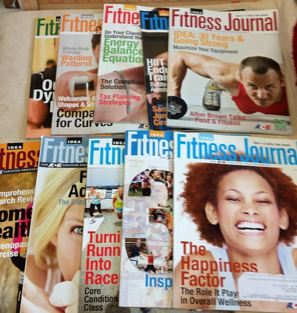 10 Issues of Idea Fitness Journal For ACE Certified Professionals Trade 2012