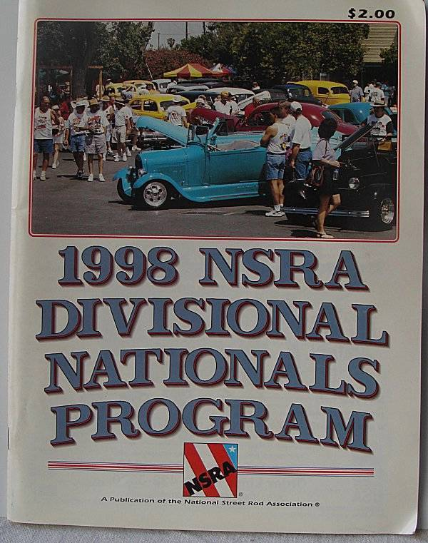 1998 NSRA Divisional Nationals Program National Street Rod Association
