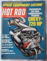 Vintage December 1970 Hot Rod Magazine Chevy 720 hp Speed Equipment Listing