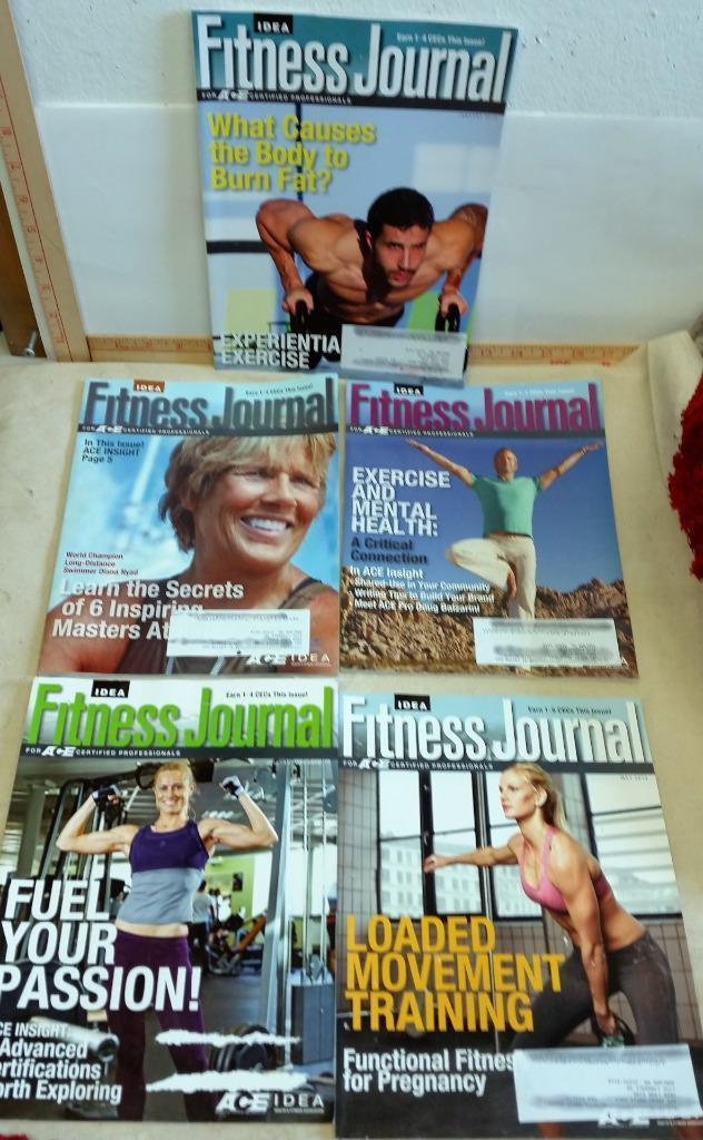 5 Issues of Idea Fitness Journal For ACE Certified Professionals 2014 Training